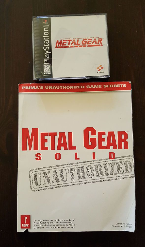 METAL GEAR SOLID COMPLETE W MANUAL BLACK LABEL PLAYSTATION PS 1 STRATEGY GUIDE