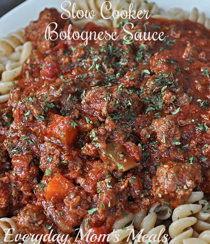 ~Slow Cooker Bolognese Sauce~ So much more than your ordinary meat sauce, this has deep, intense flavor, but made easily in your Crock Pot. You can have a Sunday supper any night of the week!