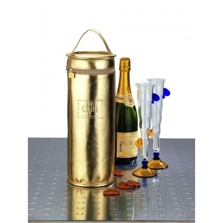 BE CooL Champagnerkühler gold T-659