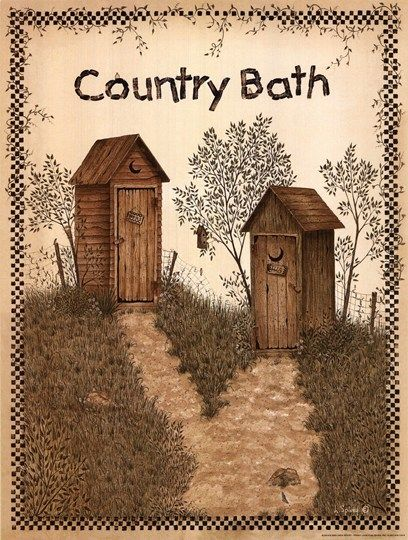 Linda Spivey. His and Hers Outhouses Can't believe I found my shower curtain!!