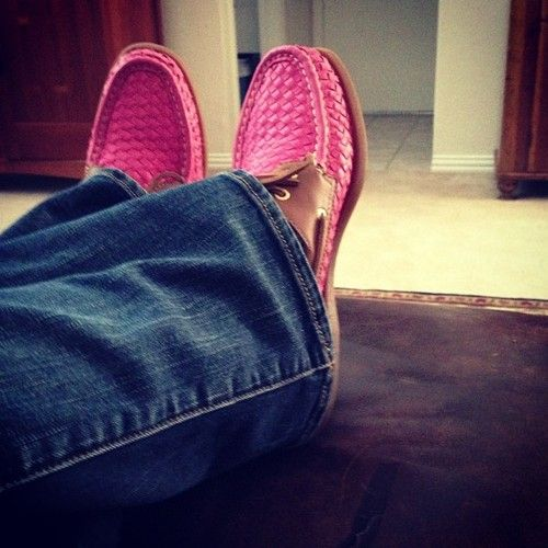 Yup Ive got #pink #wicker #sperrys :-) - @rianna_marie