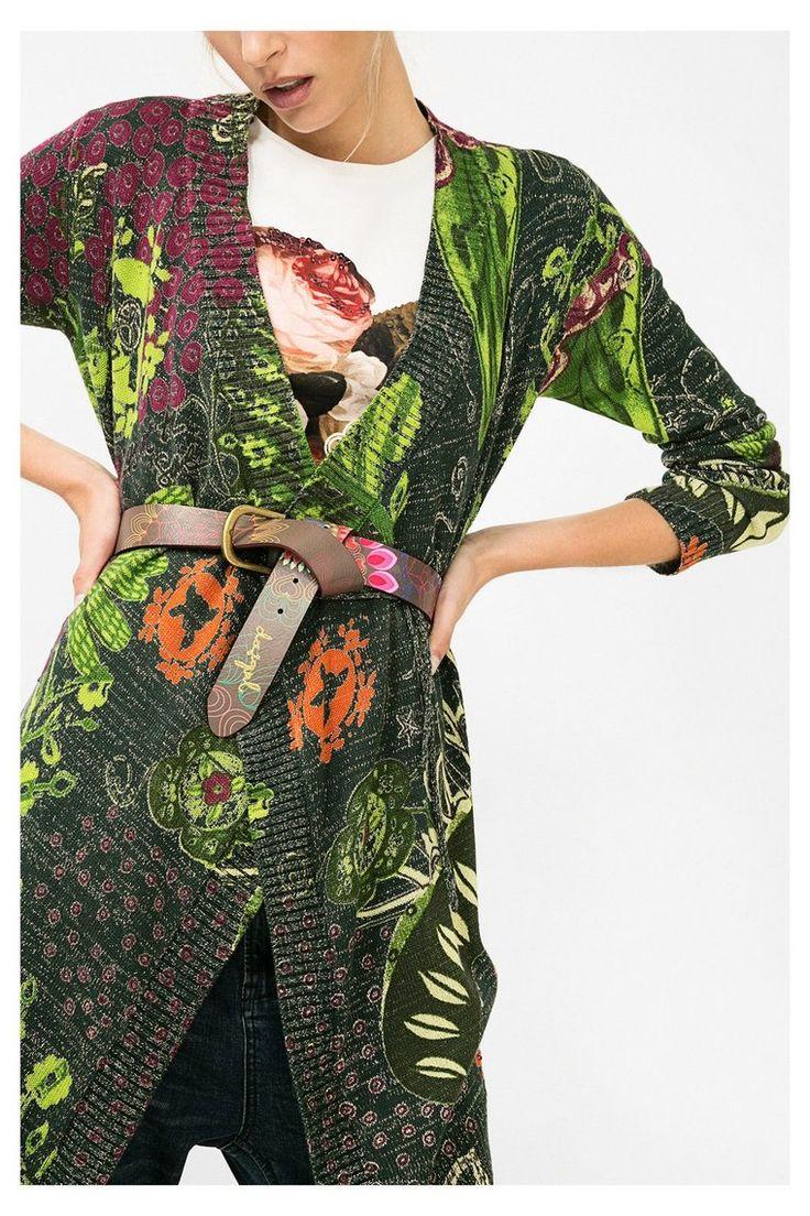 Cintura marrone con motivo floreale | Desigual.com 6009