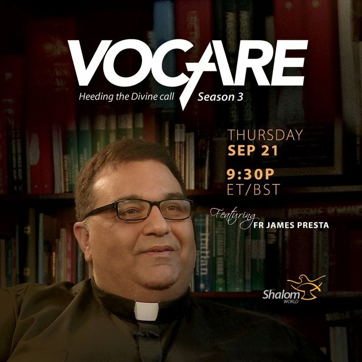 Fr. James Presta takes us through his call to the priesthood, the challenges he faced, and his mission and vision in the upcoming episode of Vocare, tomorrow at 9:30PM ET/BST!  Watch SHALOM WORLD on Apple TV, Roku, Amazon Fire TV, Samsung TV, Android TV, Kindle Fire HD, on your iPhone, iPad, Android Phone, and online at www.ShalomWorldTV.org/live  #ShalomWorld #Vocare #Season3 #Vocation ‬‬#Clergy #FatherJamesPresta