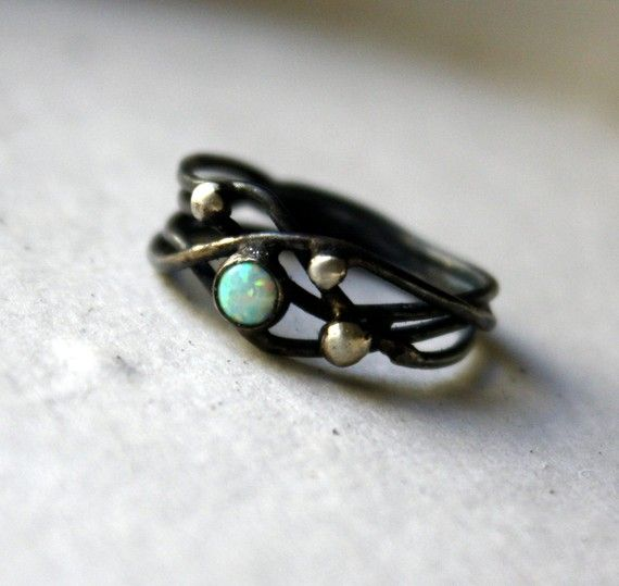 Love opal and black together.