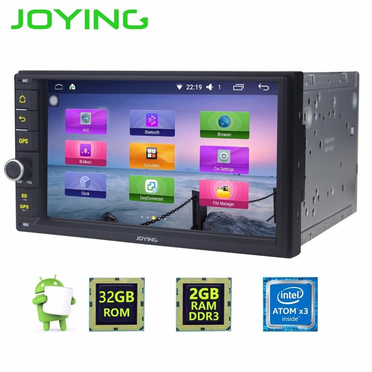Discount! US $223.29  Joying Android 6.0 2GB+32GB Universal Quad Core Double Din New Car Audio Stereo GPS Bluetooth Radio Automotive Multimedia Player