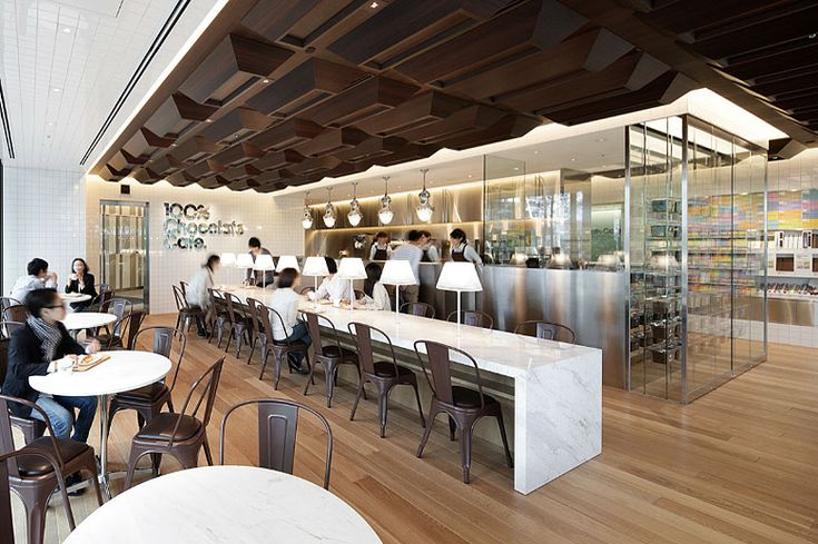Chocolate cafe in Tokyo designed by Masamichi Katayama has 56 different kinds of chocolate - YUM!