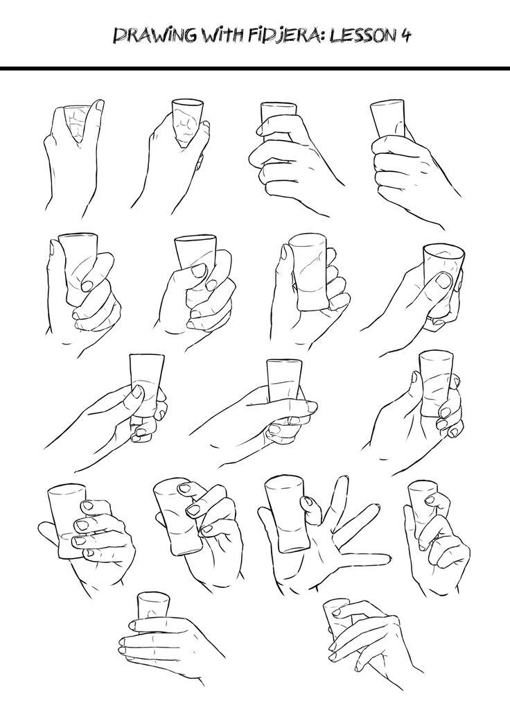 Hand holding glass ref