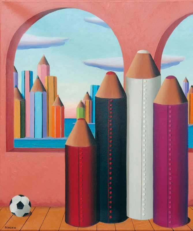 """""""Ecclesiastici in un interno"""" 2009, olio su tela 60x50"""