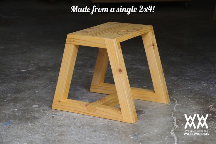 Utility stool made from a single 2x4. This step stool is super sturdy. Made with half-lap joints. This would be a great project to sell at craft fairs!