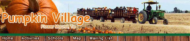 Pumpkin Village Pumpkin Patch in Flower Mound, Tx. Pumpkin Patch north of Dallas Texas