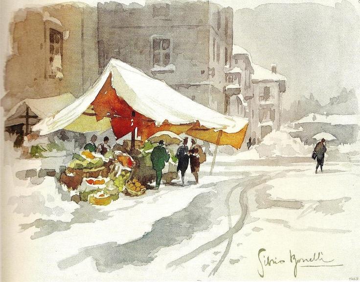"""Street market"" (by Silvio Bonelli)"