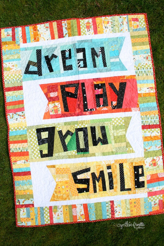A Kid Can Dream Play Grow and Smile Kids by greencouchafterhours, $225.00