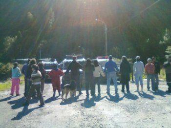 bloqueo pacifico del pueblo de Coyhaique en apoyo de vecinos a Aysen.