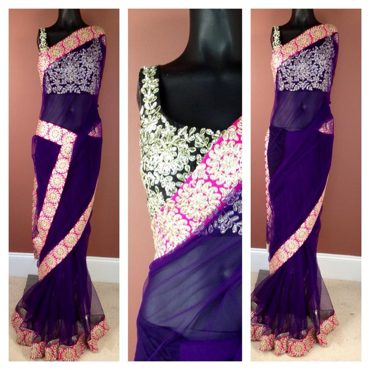 love this choli and the bottom pleating on the sari!
