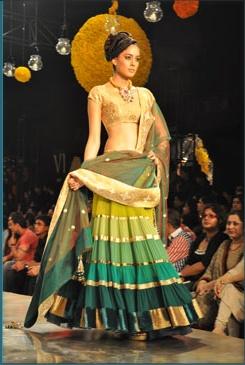 love the shades of green- manish malhotra design