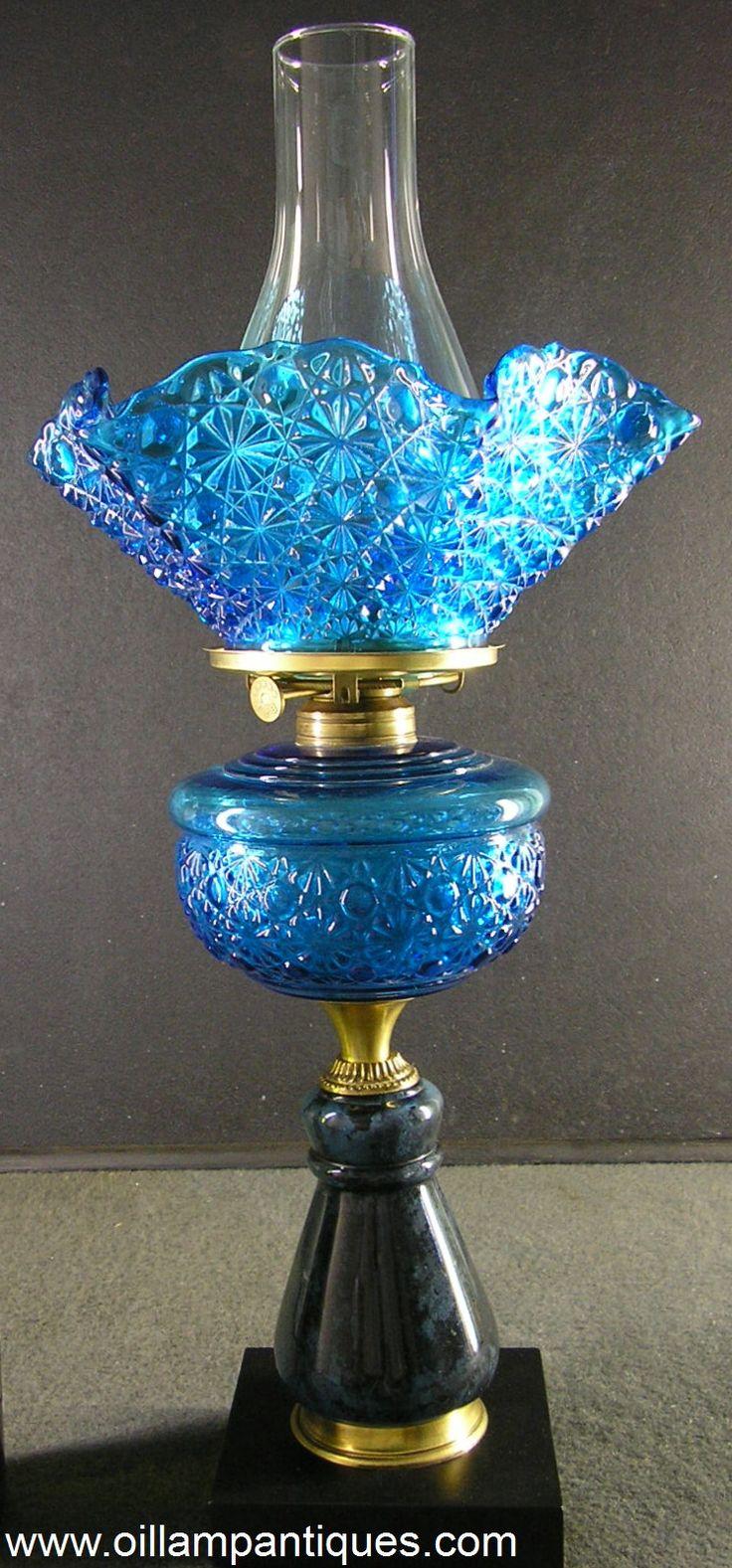 """Daisy Button"" Composite Oil Lamp Kerosene Lamp | Oil Lamp Antiques"