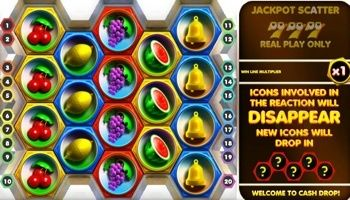 #CashDrop video slot is a new casino game where players are required to bet on the outcome of spinning hexagons. It has twenty fixed #win lines game with a draw area of eighteen hexagons.  You can play Cash Drop video slot machine if you are looking for something different from the #classic games. In this game, each of the hexagons consists of a #fruit machine symbol.
