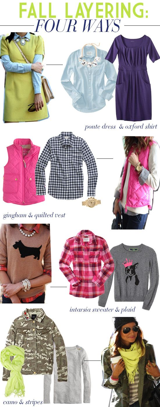 Fall Layering: Four Ways // Get the Look! http://lapetitefashionista.blogspot.com/2013/09/fall-layering-four-ways.html