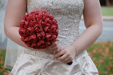 my origami wedding bouquet