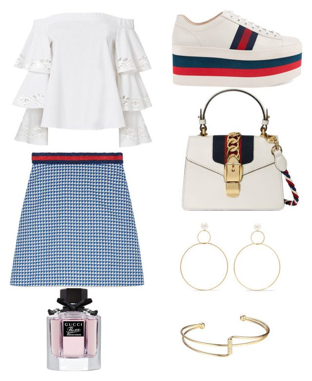 """""""Gucci"""" by denisapurple on Polyvore featuring Gucci, Exclusive for Intermix and Natasha Schweitzer"""
