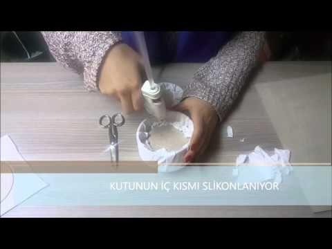 Kadife Kaplama Takı ve Tesbih Kutusu Yapımı - YouTube