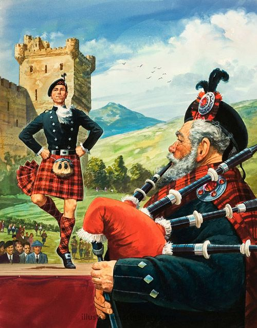 Highland Dancing with Bagpipes