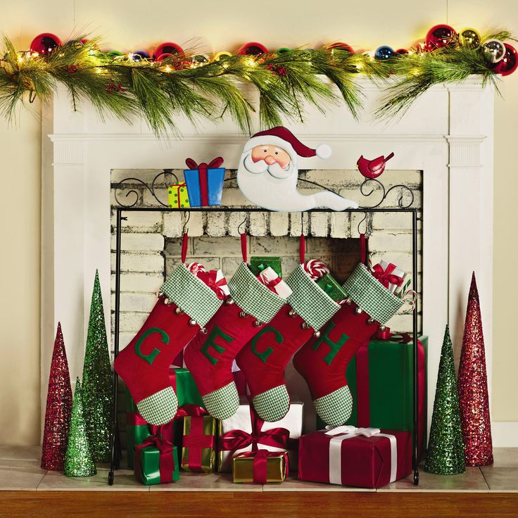 Santa Freestanding Christmas Stocking Holder | Christmas Tree Shops andThat!