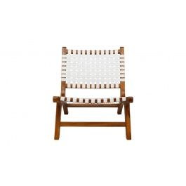 George Chair in teak/white leather, OzDesign Furniture