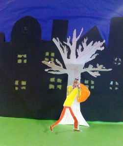 Zwarte Piet voor de skyline - creatieve opdracht