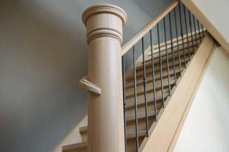 Detail eiken trap ontwerp leen jacobs landelijk pinterest - Railing trap ontwerp ...