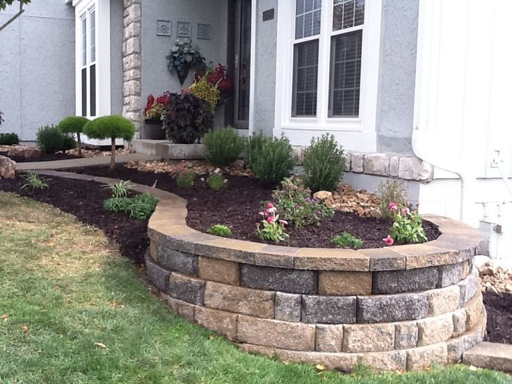 50 Crazy Front Yard Retaining Wall Landscaping Garden