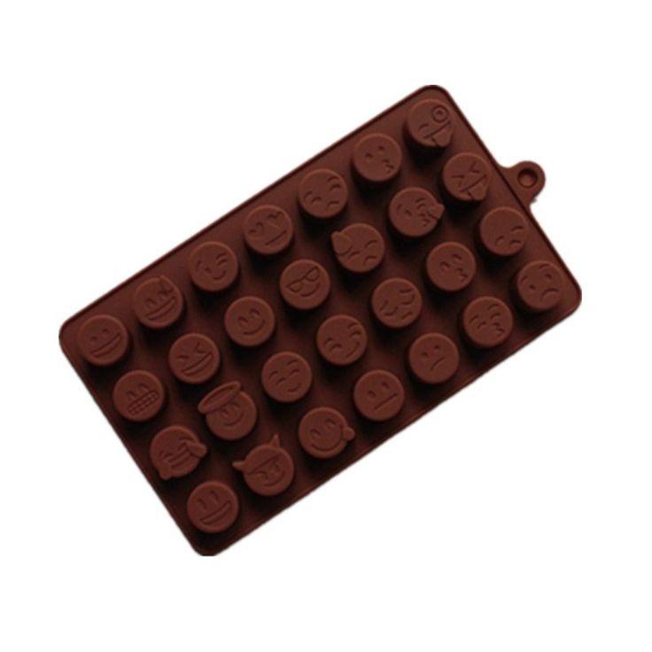 1 UNIDS Emoji QQ BRICOLAJE Pastel de Galletas de Chocolate de Cubitos de Hielo Bandeja de Jabón Del Molde de Silicona Para Hornear Molde del molde del Hielo de La expresión de La Personalidad(China (Mainland))