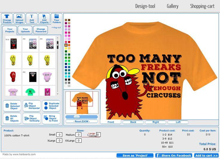 11 best T-shirt Design Software - by HarboArts.com images on Pinterest