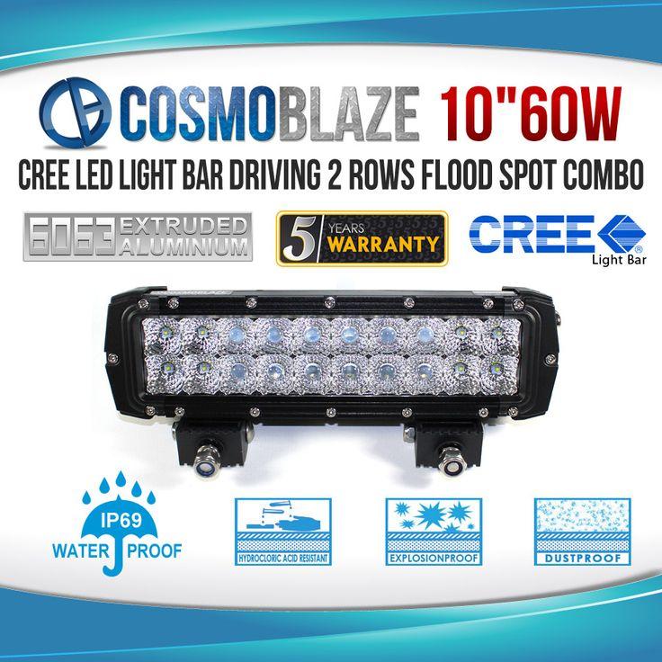 Cosmoblaze 60W Double Row series CREE LED Light Bar for Maximum Reliability