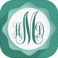Monogram Wallpapers HD - FREE Download Beautiful Chevron Pattern Theme Wallpaper Maker by Space-O Digicom