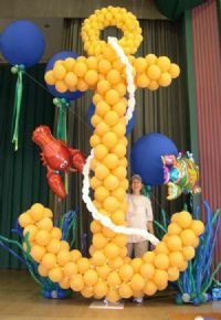 1000 images about balloons under the sea on pinterest for Anchor balloon decoration