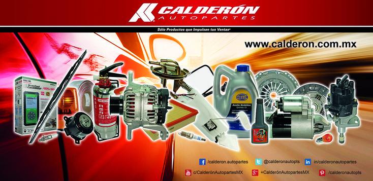 Manejamos la más amplia gama de refacciones automotrices! Visitanos: www.calderon.com.mx