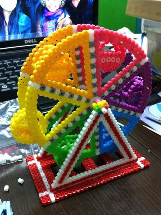 Big Wheel perler beads by KL - Perler® | Gallery - if anyone has a pattern for the inner workings of this please let me know!