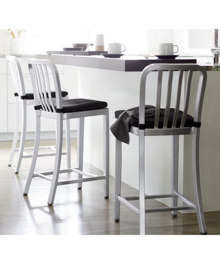 Delta Aluminum Bar Stool | Crate and Barrel