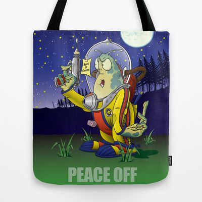 Peace Off! Tote Bag by Nameless Shame - $22.00
