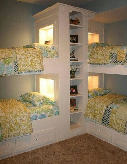 bunk beds w/ privacy