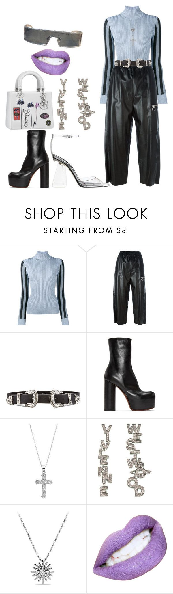 """Futuristic"" by childishglambino ❤ liked on Polyvore featuring House of Holland, MM6 Maison Margiela, B-Low the Belt, Vetements, Timeless Sterling Silver, Vivienne Westwood and David Yurman"
