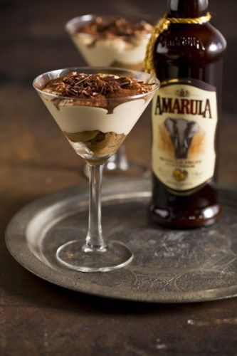 I love elegant desserts, this is a nice twist to the traditional tiramisu using the delicious south african liquor Amarula