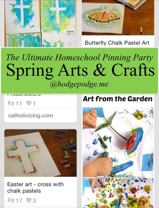 Spring Arts and Crafts - The Ultimate #Homeschool Pinning Party www.hodgepodge.me