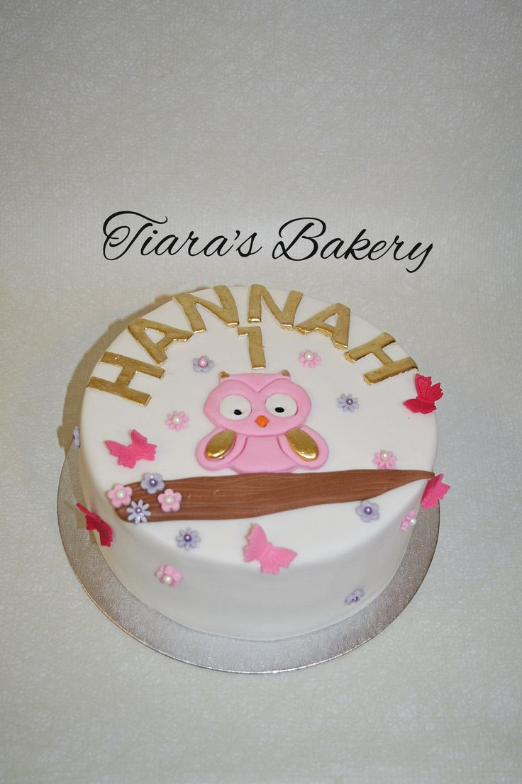 Owl Cake girl, by Tiara's Bakery, Switzerland