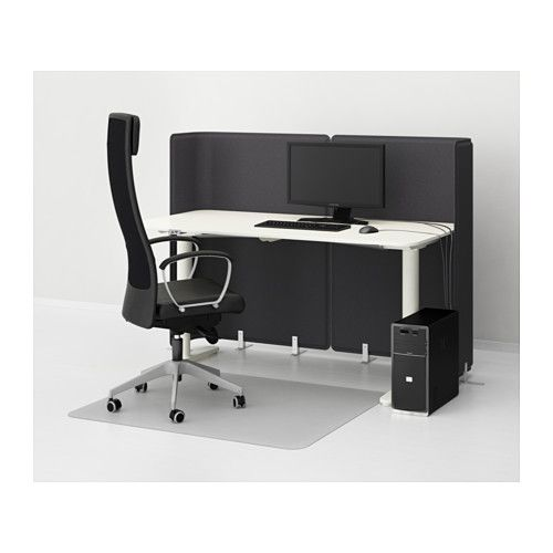 bekant pantalla para escritorio gris desks and screens. Black Bedroom Furniture Sets. Home Design Ideas