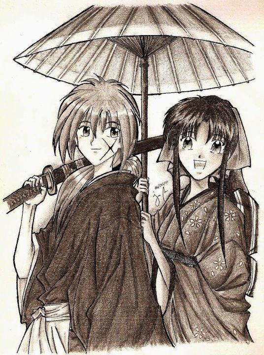 Rurouni Kenshin - Samurai X: Kenshin Himura & Kaoru Kamiya