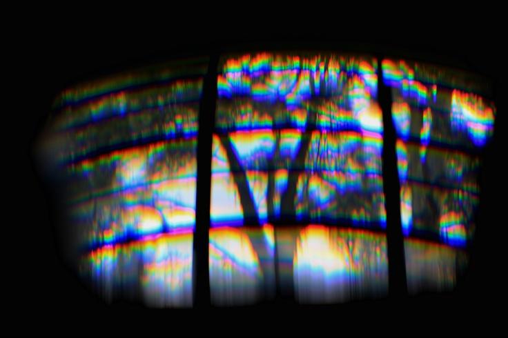 Fotografía hecha con ayuda de un prisma.