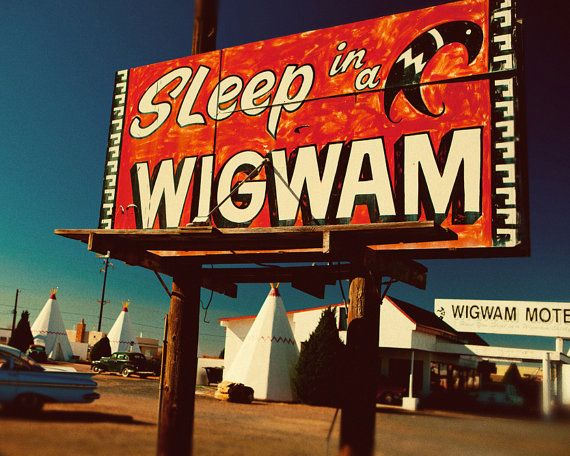 Holbrook Arizona Wigwam Motel - Route 66 Wooden Sign
