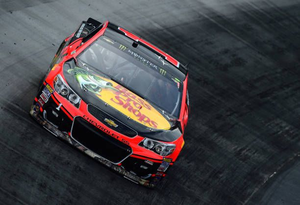 Jamie McMurray driver of the Bass Pro Shops/NWTF Chevrolet drives during practice for the Monster Energy NASCAR Cup Series Food City 500 at Bristol...